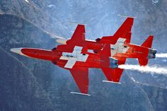"""Swiss Air Force """"Patrouille Suisse"""" Northrop F-5E Tiger IIs"""
