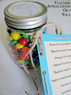 teacher appreciation gift idea.  This is a winner!