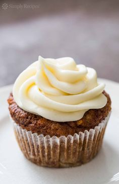 It's as if carrot cake and apple cake decided to get together and have babies. This apple carrot cupcake is the best of both! On SimplyRecipes.com