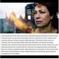 I hate seeing all the River Song hate because everyone loved Rose. Last time I checked people (even timelords) can love more than one person in their lifetime.