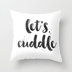 Let's Cuddle Pillow Funny Pillow Cuddling Pillow His and Hers Pillows throw pillows girlfriend pillow boyfriend pillow quote pillow