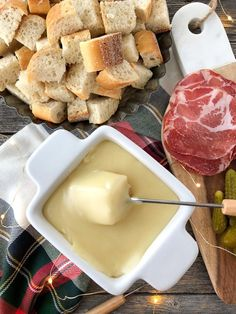 Cheese Fondue Appetizer  //  Perfect appetizer for the holiday season!