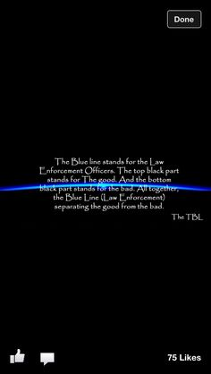 Meaning of the thin blue line