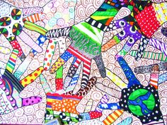 Zentangle Hands - student work - Ashley