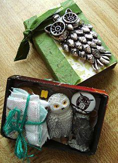 Owl matchbox