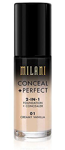 Milani Conceal  Perfect 2in1 Foundation Concealer Vanilla 10 Fluid Ounce ** Check this awesome product by going to the link at the image.