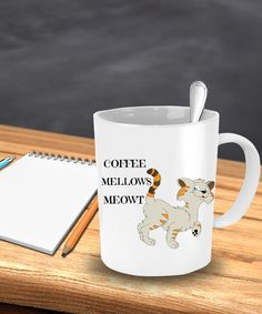 HAVE+A+CAT+LOVER+IN+YOUR+LIFE?+COFFEE+MELLOWS+MEOWT+CUTE+FUNNY+CAT+MUG+-+FOR+CAT+LOVERS+ANY+CRAZY+CAT+LADY++WILL+LOVE+THIS+MUG!  ☕️+Makes+the+perfect+gift+for+cat+lovers. ☕️+Printed+on+only+the+highest+quality+mugs.+The+print+will+never+fade+no+matter+how+many+times+it+is+washed. ☕️+Packaged,...