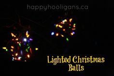 outdoor christmas light ideas - happy hooligans - hanging light balls