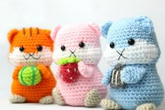 Get the PDF version to the hamster amigurumi crochet pattern here! Visit our site to learn more and discover more free crochet patterns. Crochet Animal Patterns, Stuffed Animal Patterns, Crochet Patterns Amigurumi, Crochet Animals, Crochet Toys, Free Crochet, Pdf Patterns, Diy Haken, Pom Poms