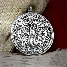 Yggdrasil pendant. Tree of life. World tree Yggdrasil. Sterling silver pendant Irminsul
