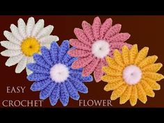 This is a beginner friendly, step by step tutorial on how to crochet daisy flower motif in an easiest way. This is a fresh new pattern that will unleash. Crochet Flower Squares, Crochet Granny Square Afghan, Crochet Daisy, Crochet Flower Tutorial, Crochet Stars, Crochet Flower Patterns, Crochet Motif, Crochet Designs, Easter Crochet