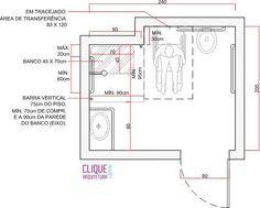 banheiro para cadeirantes medidas - Pesquisa Google