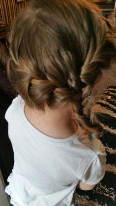 2 braids into fishtail by Danielle covington