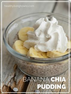 Easiest dessert ever! I used SoDelicious pumpkin chai coconut milk I had on hand and topped it with chopped walnuts :) Yum!  healthylivinghowto.com | Banana Chia Pudding