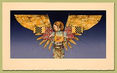 The Messenger by James Christensen. Hand-tinted original stone lithograph