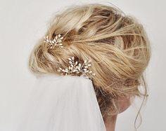 Art Deco Wedding Hair Accessories Fern Leaf Bridal Hair Pins
