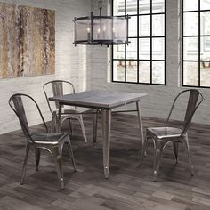 Oly Dining Table | Steel Table | Modern Industrial Dining | Eurway