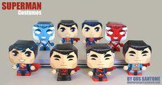 Superman Costumes de Gus Santome (x 7)    Suite à la collection Man Of Steel, le papertoys maker Gustavo Santome a décidé de poursuivre sur sa lancée kryptonienne en déclinant les différents costumes de Kal-El, des années 30 à nos jours. Ca nous fait 7 nouveaux paper toys de Superman à télécharger dans la suite…    http://www.paper-toy.fr/2013/07/08/superman-costumes/    #Superman #DC #papertoys #papercraft #paper #arts #toys #DIY