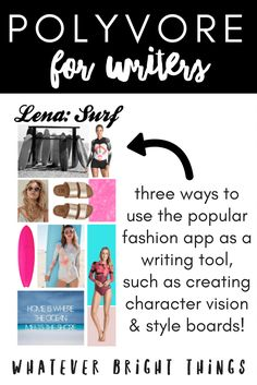 Polyvore isn't just for fashionistas! From character creation to world-building, Polyvore is a great resource for writers. Click through to read how and why I use Polyvore as a writer, and how you can use it too!
