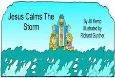 Jezus kalmeert de storm (zwart-wit)