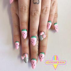 Watermelons!  #nailart #melbournenailart #sydneynailart #iscreamnails #Padgram