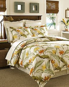 Tommy Bahama - Birds of Paradise 4-Piece California King Comforter Set