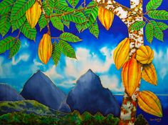 St. Lucia Cocoa Tapestry - Textile by Daniel Jean-Baptiste