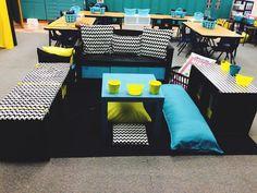 New classroom seating arrangements layout reading corners 28 Ideas Classroom Layout, Classroom Setting, Classroom Design, Classroom Themes, School Classroom, Classroom Organization, Future Classroom, Space Classroom, Modern Classroom