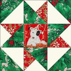 Dog Party Stars Quilt Blocks Kit
