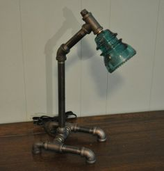 Steam punck electric glass insulator lamps | visit ebay com