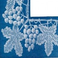 Very beautiful very old victorian grape and vine design crochet lace trimming pattern downloadable pdf