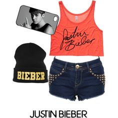 Designer Clothes, Shoes & Bags for Women Outfits For Teens, Summer Outfits, Girl Outfits, Cute Outfits, Casual Outfits, Justin Bieber Outfits, Justin Bieber Style, Justin Bieber Merchandise, Bae