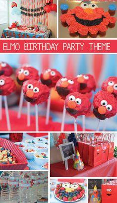Elmo Theme Birthday Party Ideas
