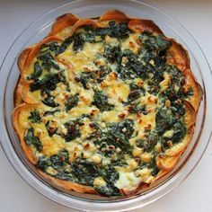 Quiche in a sweet potatoes crust