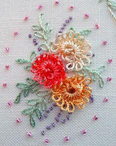 Brazilian Embroidery Patterns RosalieWakefield-Millefiori: A NEW Brazilian Dimensional Embroidery Stitch Technique . Brazilian Embroidery Stitches, Types Of Embroidery, Learn Embroidery, Hand Embroidery Stitches, Embroidery Needles, Crewel Embroidery, Embroidery Techniques, Ribbon Embroidery, Cross Stitch Embroidery