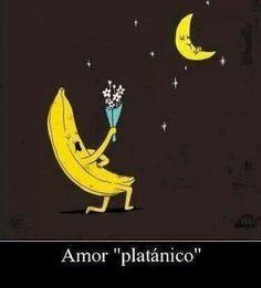 Amor! Lol... platano enamorado luna