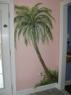 Amazing Palm Tree Mural | For The Kids | Pinterest | Palm, Beach Mural And Paint  Walls Part 21