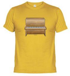T-shirt - upright piano - piano vertical