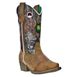 cowgirl boots | ... Boots :: John Deere Kid's Mossy Oak and Brown with Pink Cowgirl Boots