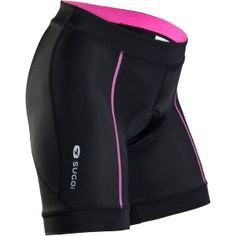 Love the touch of pink and the broad elastic at the legs and waist...really flattering.