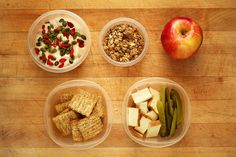 Unsweetened cashew/almond yogurt topped with pumpkin seeds & goji berries + granola, a gala apple, and triscuits + smoked tofu + pickles. Goji Berry Recipes, Almond Yogurt, Shredded Carrot, Baby Spinach, Granola, Tofu, Pickles, Cucumber, Meal Prep