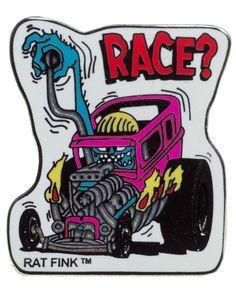 ED ROTH RACE ENAMEL PIN $5.00 #edroth #pin #accessories #lowbrow #ratrod