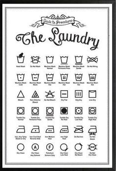 7 Best Images of Printable Laundry Care Symbol Chart - Free Printable Laundry Symbols Guide, Laundry Guide Symbols and Laundry Symbols Clothing Tag Household Cleaning Tips, House Cleaning Tips, Diy Cleaning Products, Cleaning Hacks, Spring Cleaning Checklist, Dry Cleaning, Laundry Care Symbols, Diy Casa, Laundry Hacks