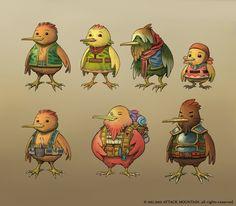 bird people from Legend of the Time Star kickstarter.