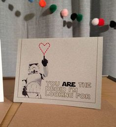 valentine's cards star wars | Star Wars Valentine's Day Card