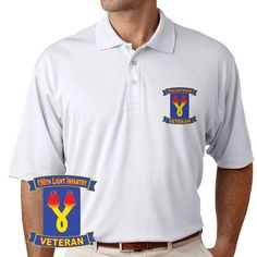 Grab a unique 196th Light Infantry Brigade Veteran Performance Polo Shirt today. These good looking polos will keep you cool as they are performance wicking, stain-resistant & offer UV Protection. Designed, Printed & Sublimated in the USA -Fabric Imported.