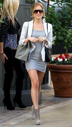 Kristin Cavallari.  Such a cute outfit!  Love her style.