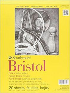 Strathmore Bristol Vellum Paper Pad, 9 x 12-Inch, 20 Sheets
