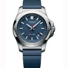 0 feet. Additional Info: protective cover included. Casual watch style. Victorinox Swiss Army Inox Blue Dial Blue Rubber Mens Watch 241688.1. BUY NOW $394.90 BUY NOW