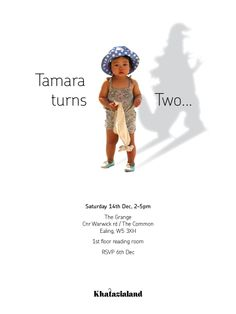 It's the terrible two's! Cute and easy invite idea